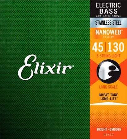 Encordoamento Elixir 0.45/.130 Stainless Light 14777 Nanoweb para Contrabaixo