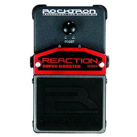 Pedal de Efeitos Rocktron Reaction Super Booster para Guitarra