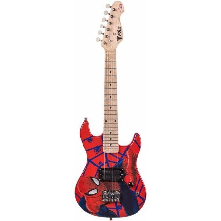 Guitarra Infantil PHX GMS-K1 Marvel Série Homem Aranha