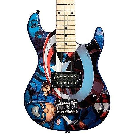 Guitarra Infantil PHX GMC-K2 Marvel Série Capitão América
