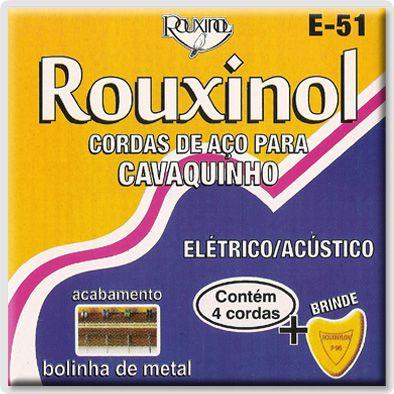 Encordoamento Rouxinol E-51 .011/.028 para Cavaquinho