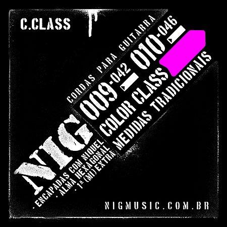 "Encordoamento NIG Color Class .010"" Rosa para Guitarra"