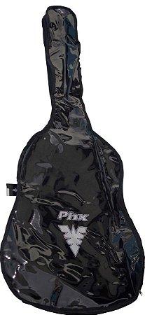 Capa Courino Transparente Phx CPM002 Preta para Violão