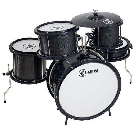 "Bateria Infantil Luen Percussion Pop Bumbo 14"" Preta"