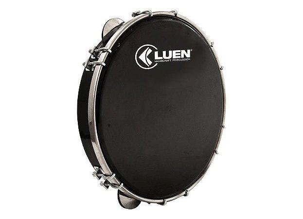 "Pandeiro Profissional Luen Percussion 10"" Alumínio Pele Preta"