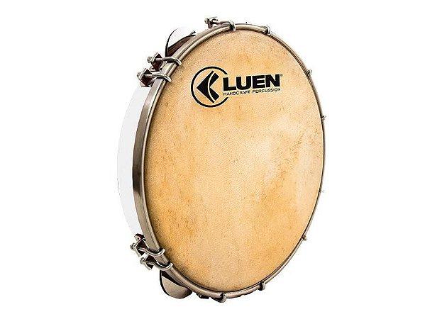 """Pandeiro Luen Percussion 10"""" Fórmica Cromadas Pele Cabra"""