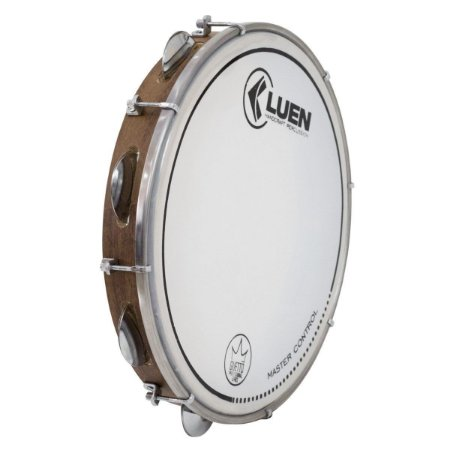 "Pandeiro Luen Percussion 10"" Guetto Cromadas Pele Master Control"