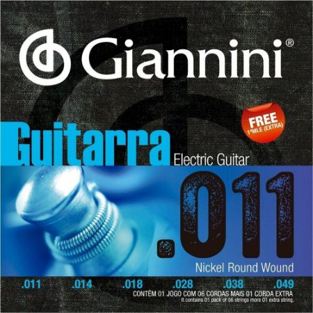 Encordoamento Giannini GEEGST11 .011/.049 para Guitarra