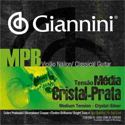 Encordoamento Giannini GENWS .028/.043 Tensão Média MPB Series para Violão