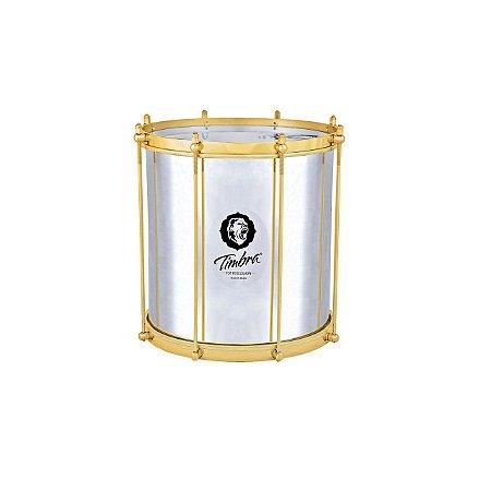 Repinique Timbra 12x30 Alumínio Aro Dourado com Pele Leitosa