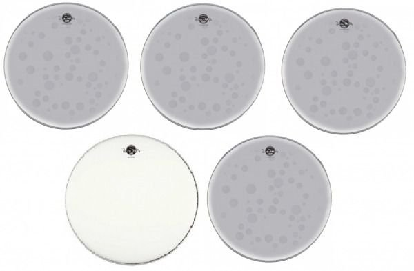 Kit de Peles Luen Percussion Dudu Portes Double Clear Fusion 20""