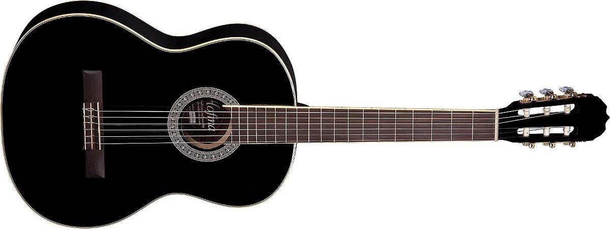 Violão Acústico Clássico Hofma HM210 Black Nylon