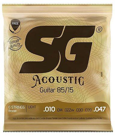 Encordoamento SG Strings Acoustic 85/15 .010/.047 Violão Aço