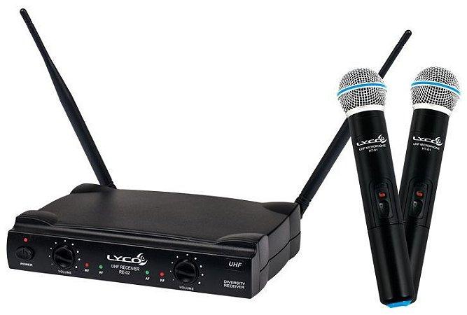 Microfone sem Fio Lyco UH-02 MM Duplo
