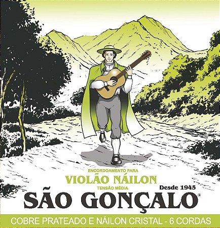 Encordoamento São Gonçalo .029/.043 Nylon Para Violão