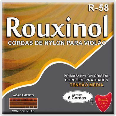 """Encordoamento Rouxinol R-58 .028""""/.043"""" para Violão Nylon"""