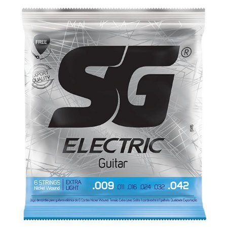 Encordoamento SG Strings .009/.042 Extra Leve para Guitarra