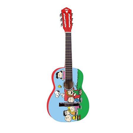 Violão Acústico PHX VIS-A1 Snoopy Amigos Nylon com Capa