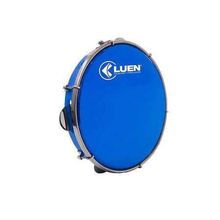 Pandeiro Luen Percussion 10 Aro ABS Pele Holográfica Azul