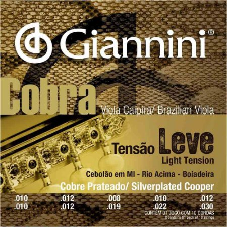 Encordoamento Giannini GESVL .010/.030 Tensão Leve Cobra para Viola