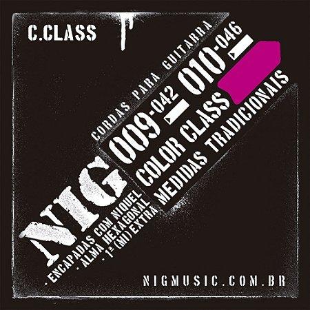 Encordoamento NIG Color Class 010/046 Rosa para Guitarra