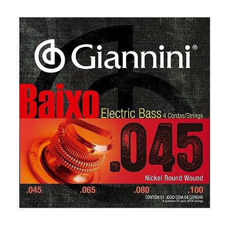 Encordoamento Giannini GEEBRS-4 .045/.0100 para Contrabaixo