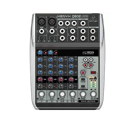 Mesa de Som Behringer Xenyx Q802 USB 6 Canais