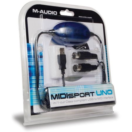 Interface de Áudio M-Audio Midisport UNO USB Midi