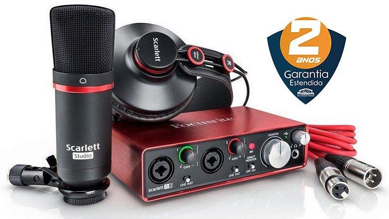 Interface de Áudio Focusrite Scarlett Studio 2i2 2nd Geração
