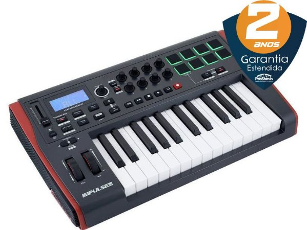 Teclado Controlador Novation Impulse 25 USB 25 Teclas
