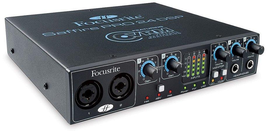 Interface de Áudio Focusrite Saffire PRO 24 DSP