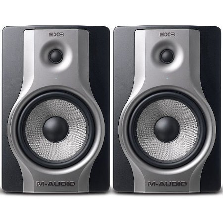 """Monitor de Referência M-Audio BX8 Carbon 1x8"""" 130w (Par)"""