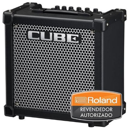 "Caixa Amplificada Roland Cube 20GX 20w 1x8"" para Guitarra"