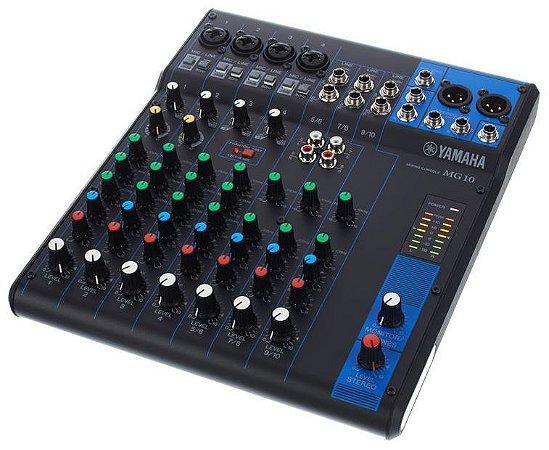 Mesa de Som Analógica Yamaha MG10 10 Canais