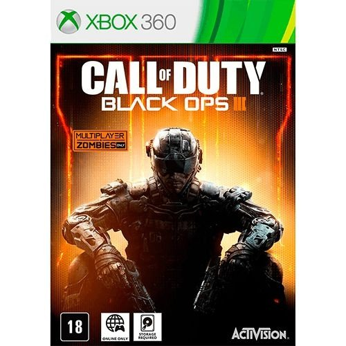 Call Of Duty: Black Ops 3 Xbox 360 ( USADO, SOMENTE ONLINE, EXIGE HD  )