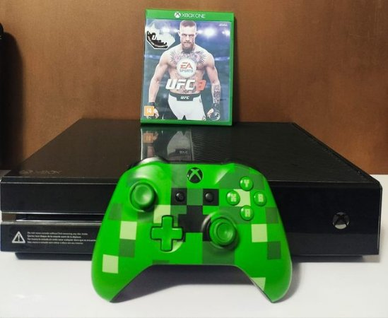 Console - Xbox One Fat 500gb com 1 jogo ( USADO )
