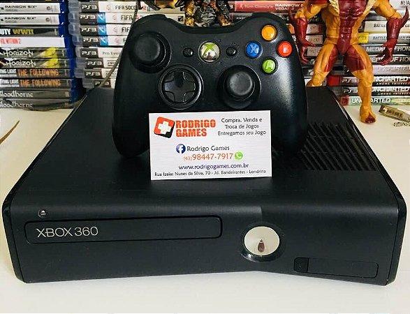 Console Xbox 360 4GB - Desbloqueado + 5 jogos ( USADO )