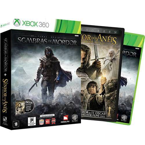 Terra-Média: Sombras de Mordor + DVD do Filme O Senhor dos Anéis: O Retorno do Rei - XBOX 360 ( USADO )