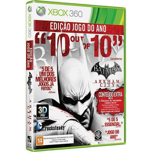 Batman: Arkham City - Edição Jogo do Ano - Xbox 360 ( NOVO )