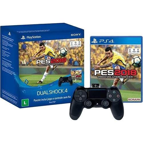 Controle Dualshock 4 + Game PES 18 - PS4