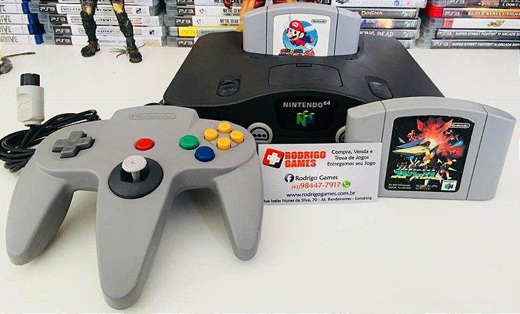 Console Nintendo 64 + 2 Jogos ( USADO )