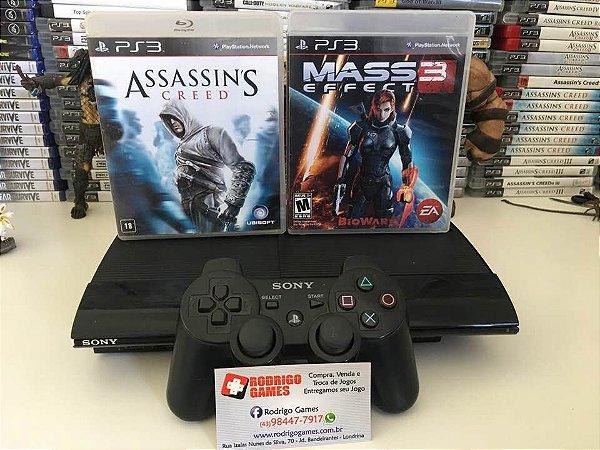 Console PS3 500GB + 2 jogos ( USADO )