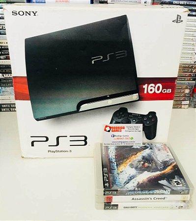 Console PS3 160GB com 3 Jogos ( USADO )
