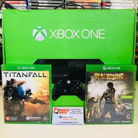 Console Xbox One 500GB com 2 Jogos ( USADO )