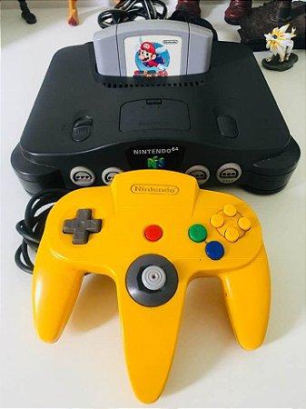 Console Nintendo 64 com 1 controle e 1 Jogo ( USADO )