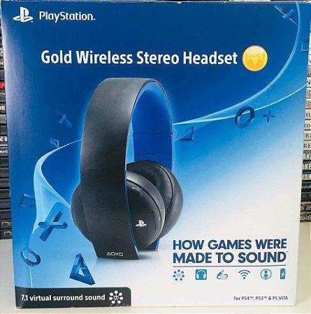 Headset Gold Wireless - Ps4/ps3/ Psvita ( USADO )
