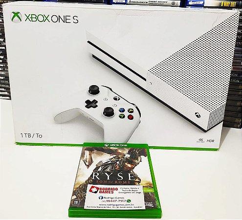 Console - Xbox One S 1TB com o jogo Ryse son of rome ( USADO )