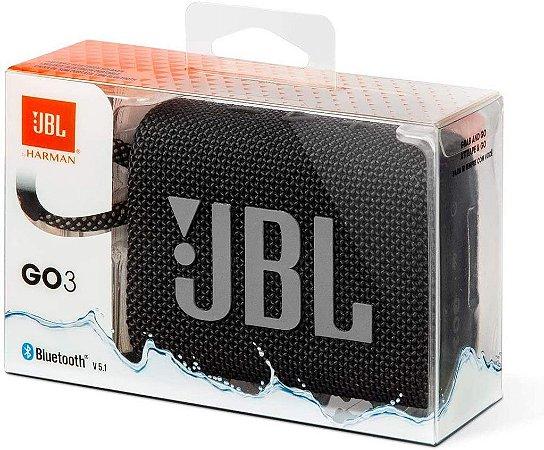 Jbl Go 3 Bluetooth 5.1 Preto