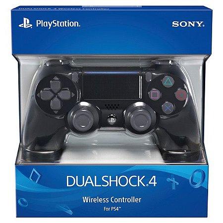 CONTROLE SONY DUALSHOCK 4 PRETO SEM FIO - PS4