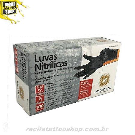 adcc42840184b Luva Nitrílica Preta - Descarpack - Recife Tattoo Shop